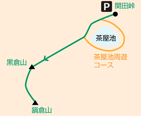 関田峠~鍋倉山往復